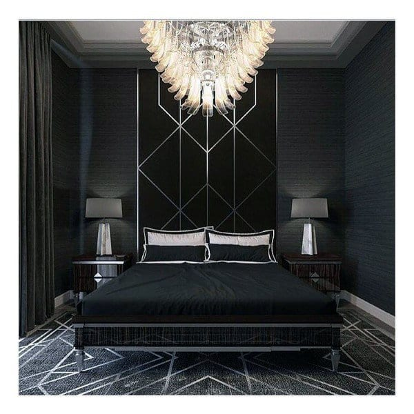 Luxurious black bedroom design ideas