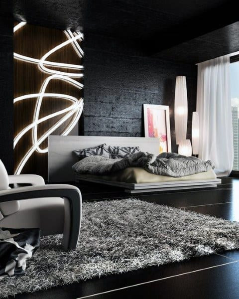Modern black bedroom design ideas