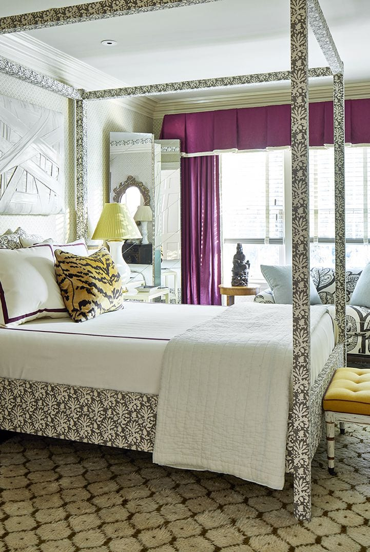 Printed themed master bedroom ideas