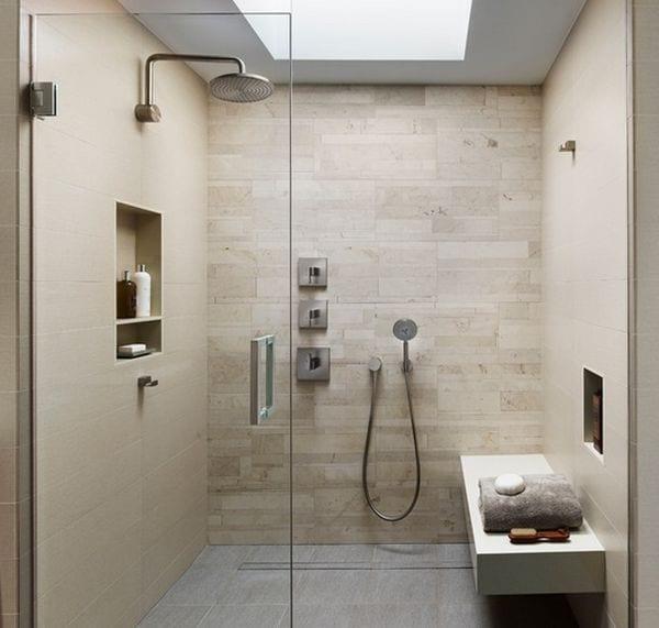 Private spa shower design ideas