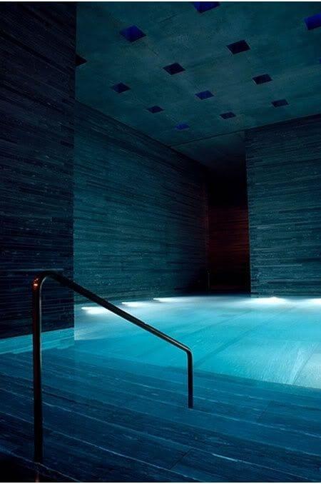 indoor pool with inside lighting design ideas