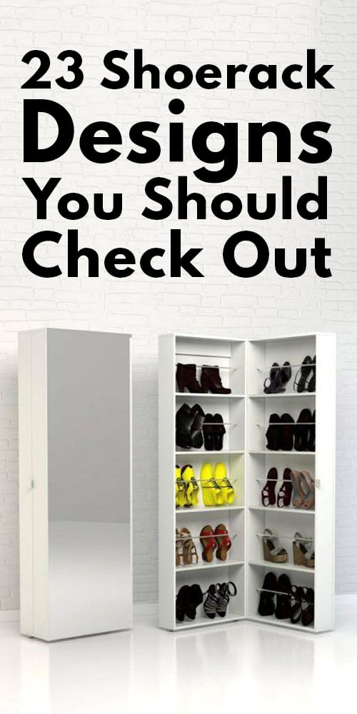 23 Shoe rack Designs You Should Check Out!