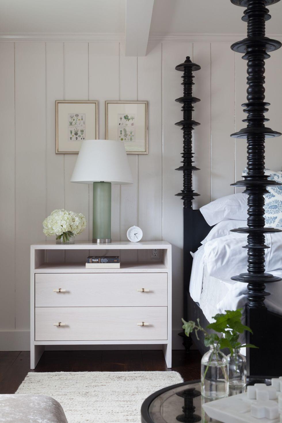All White Sidetable Design Ideas For Bedroom