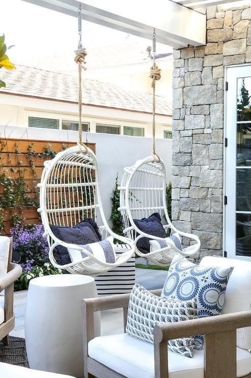 All White Swing In Balcony Ideas