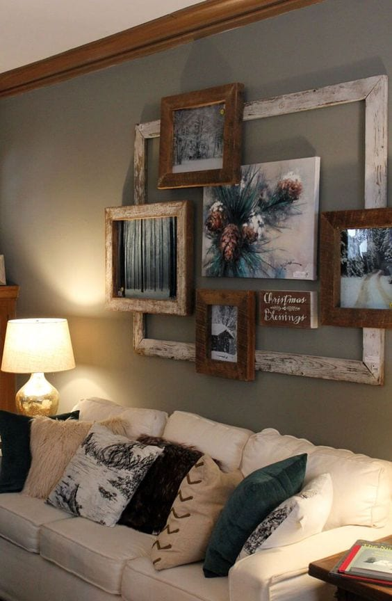 Amazing frames on the wall decor ideas