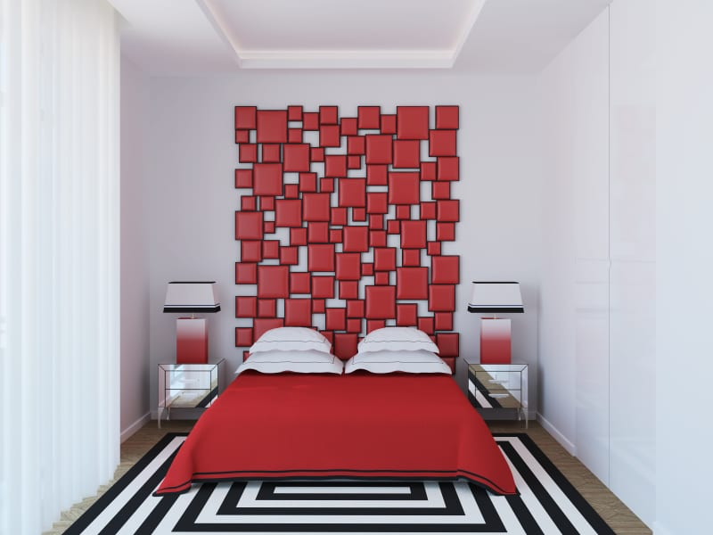 Artsy Collage bedroom Headboard ideas