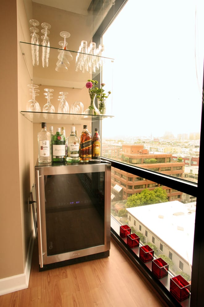Bar in balcony design