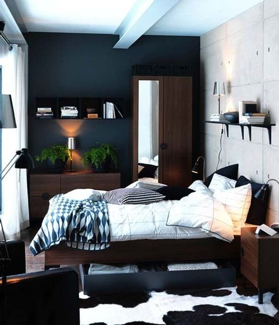 Black And White Small Bedroom Designs