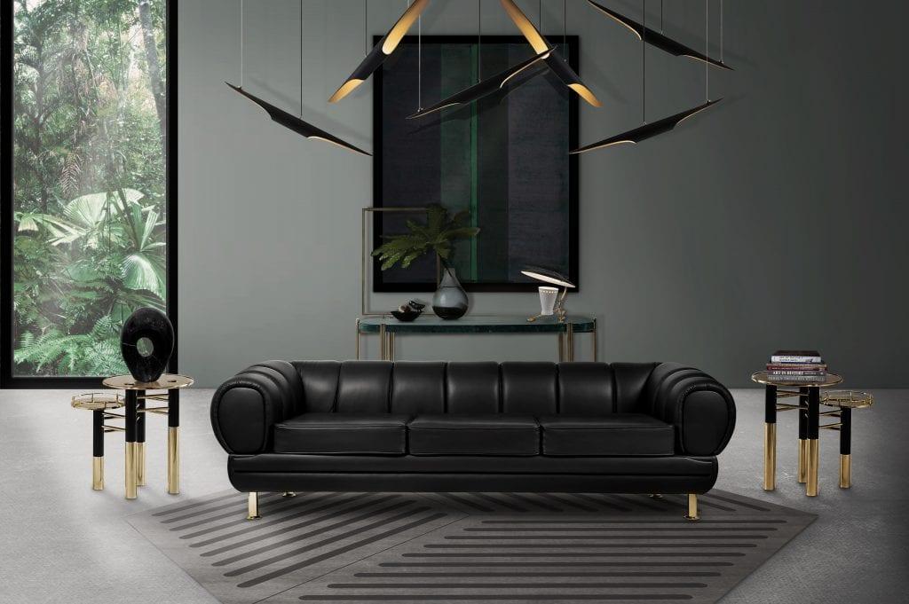 Black living room minimal decor ideas