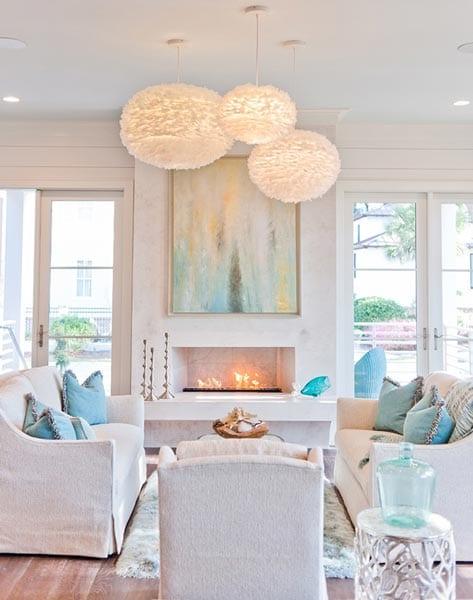 Classic White living room decor ideas