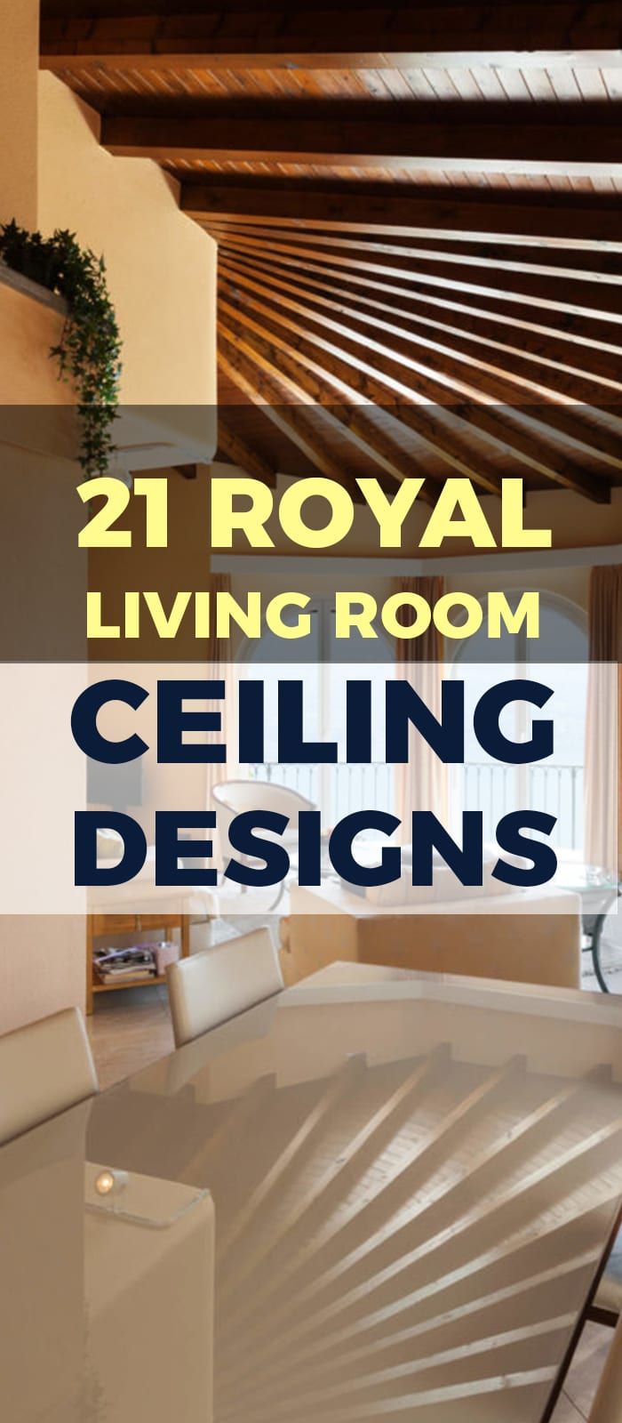 Curved ceiling design for living room apartments.