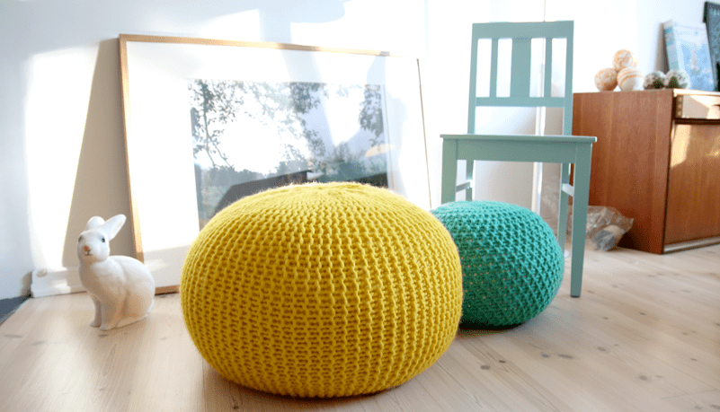 DIY Knitted Stools design ideas
