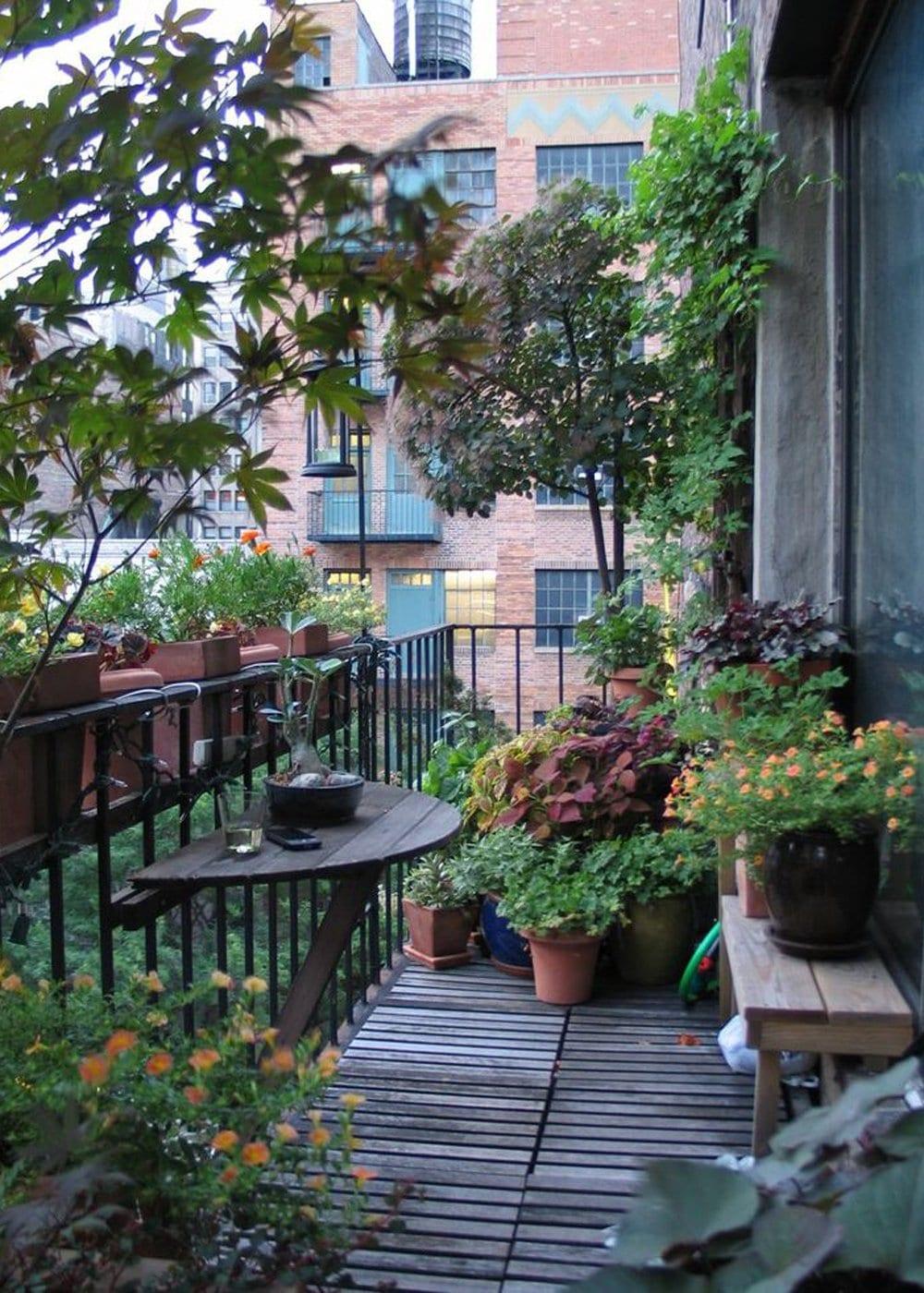 Forest Type Balcony Garden Ideas