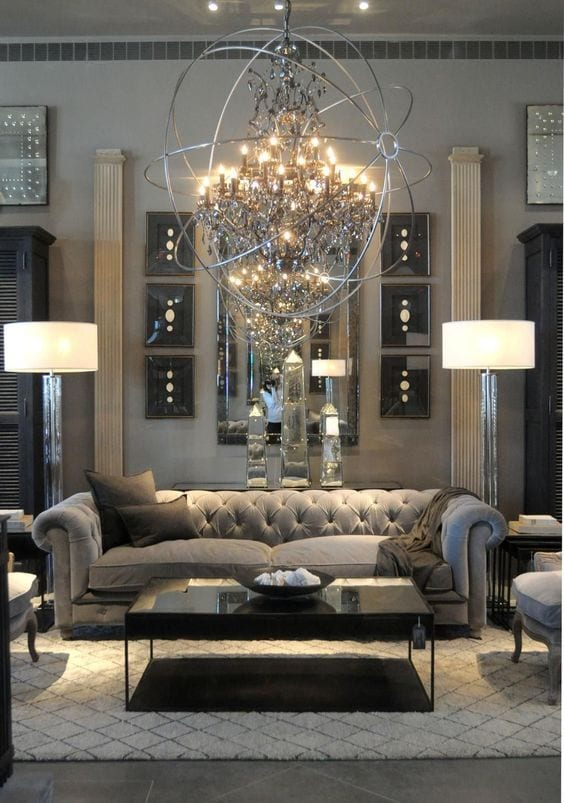 Glamorous Living Room Decor Ideas