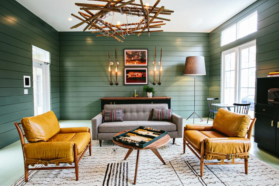Granite & Green living room paint color ideas