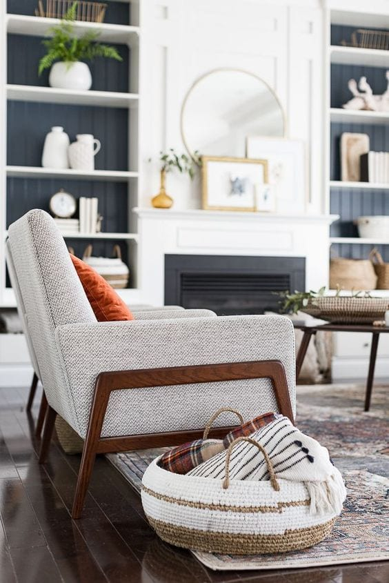 Grey living room chair