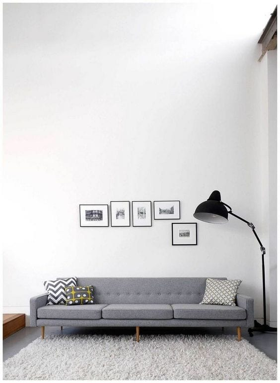 Lamp in a living room for minimal things