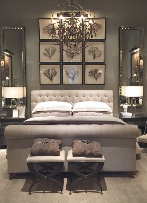 Lavish bedroom shelves