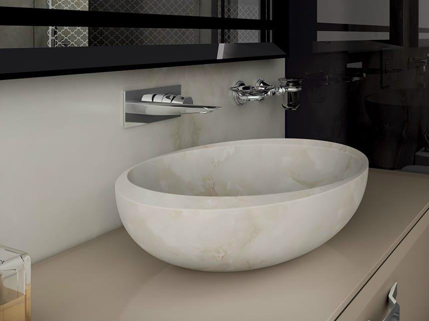 Marble look washbasin design ideas