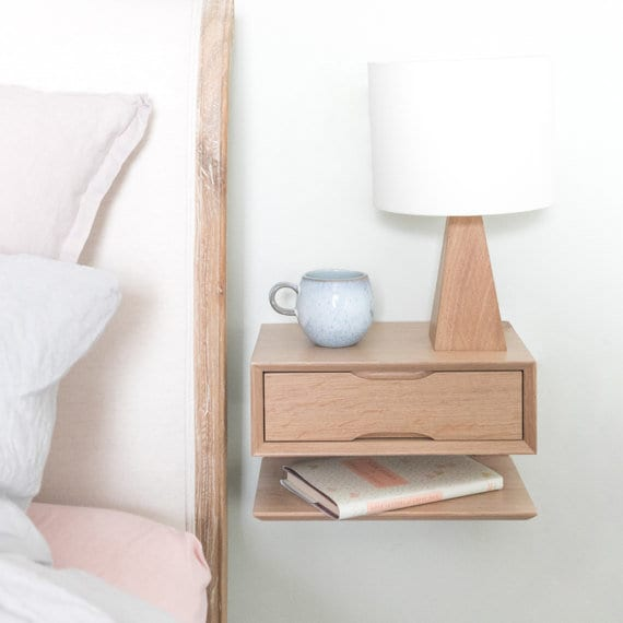 Oak Floating Bedside Table design ideas