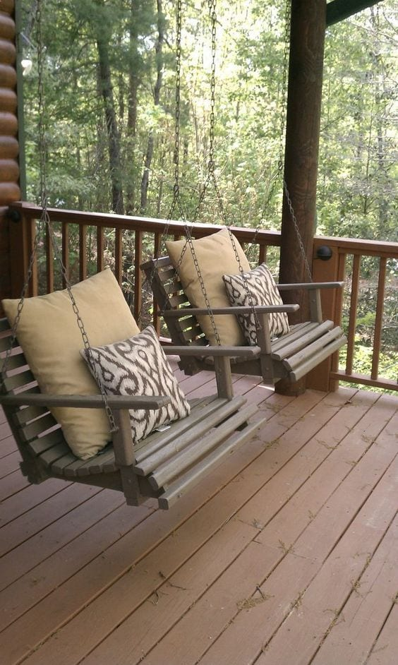 Outdoor Swing In Balcony Ideas