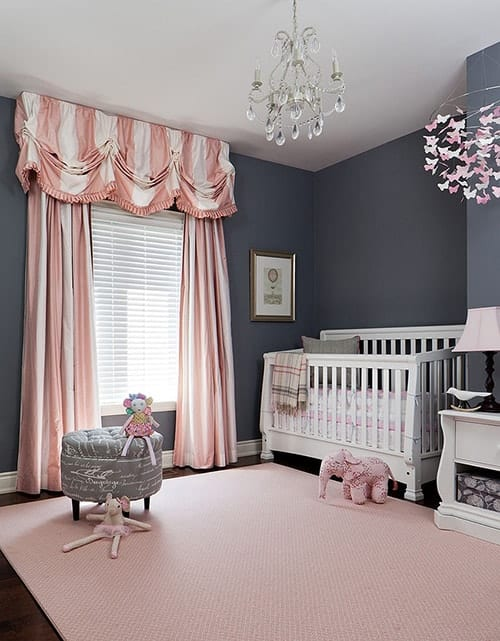 Pink White bedroom curtains designs