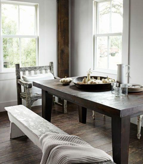 Rustic White Dining Room design ideas