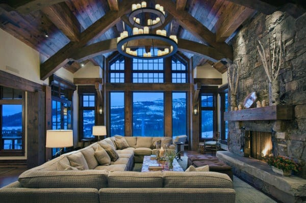 Rustic interior ideas for living rooms