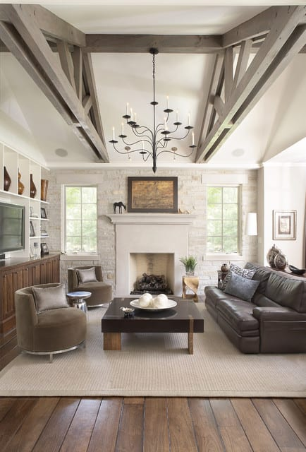 Simple rustic living room ideas