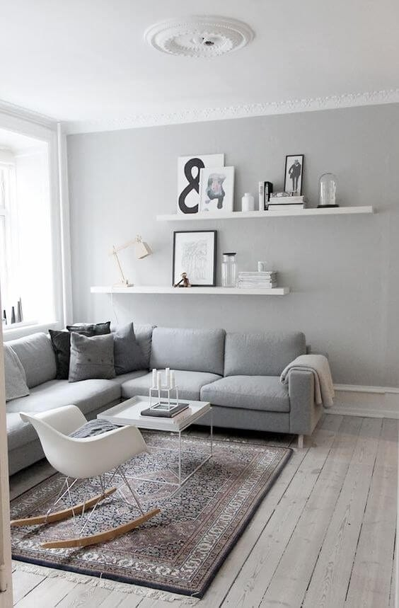 Simple Scandinavian living room design ideas