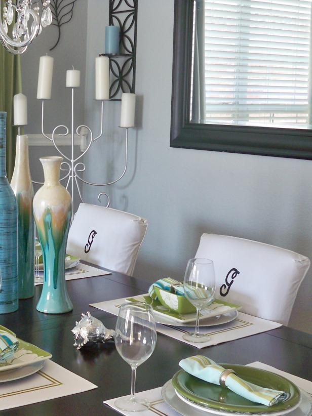 Slipcovers in dining room decor ideas