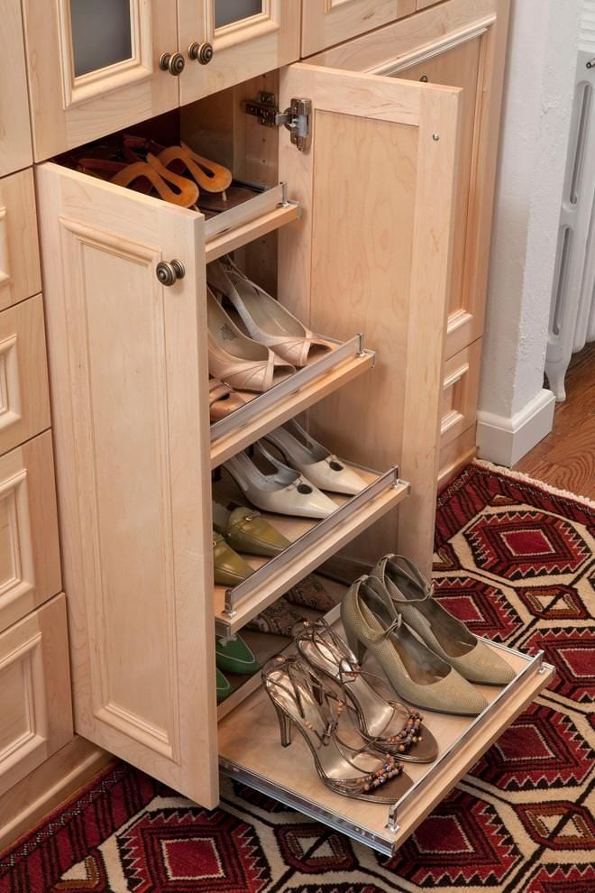 Small side out shoe rack design ideas