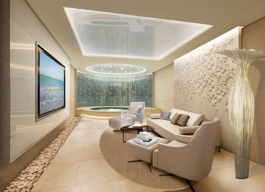 Sparkling dome ceiling for living room