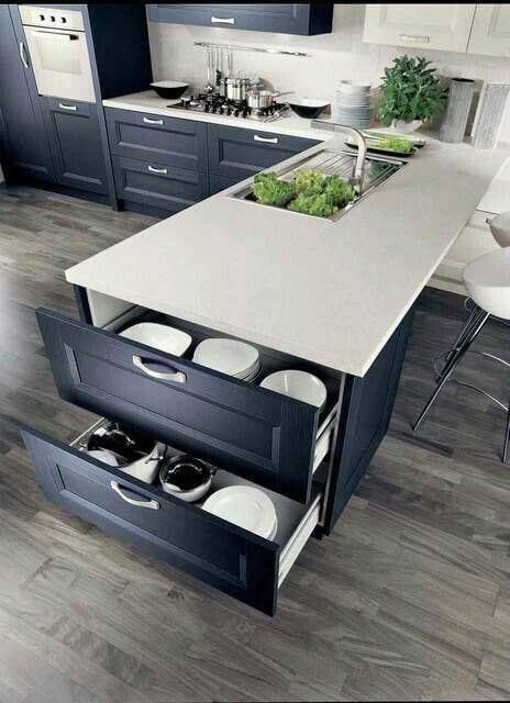 Storage kitchen platform design ideas
