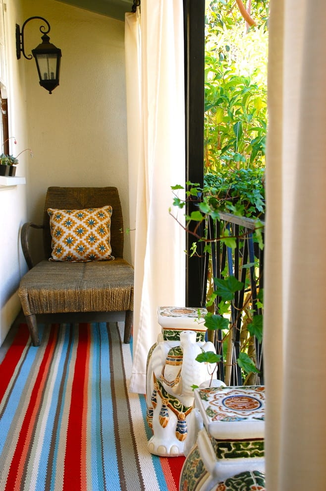 Stripe patterns balcony ideas