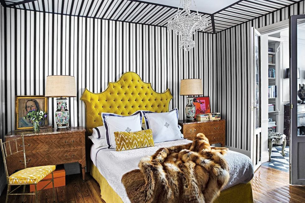 Strips Bedroom Ceiling Design Ideas