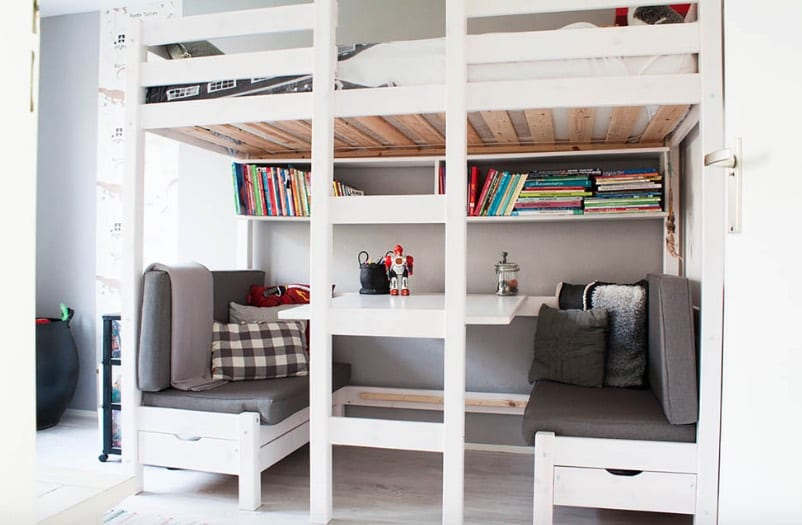 Under-the-Bed Homework Desks and Study Spots
