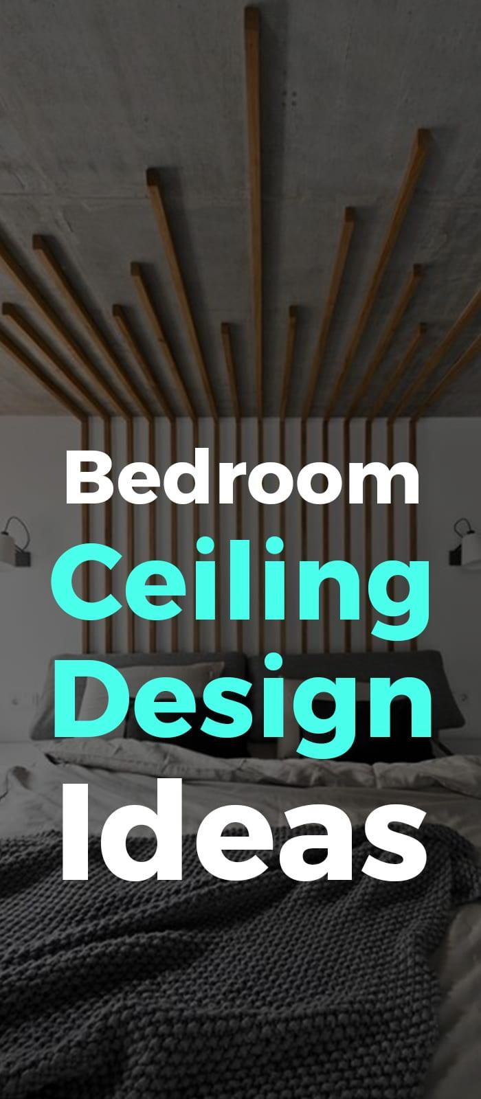 Unique ceiling design for bedroom idea.