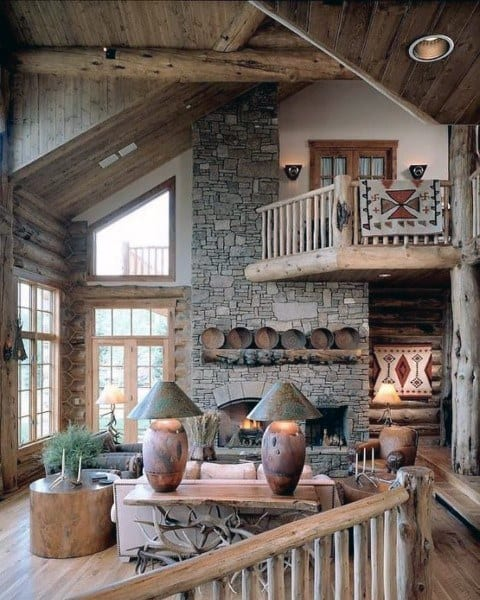 Vintage rustic living room decor ideas