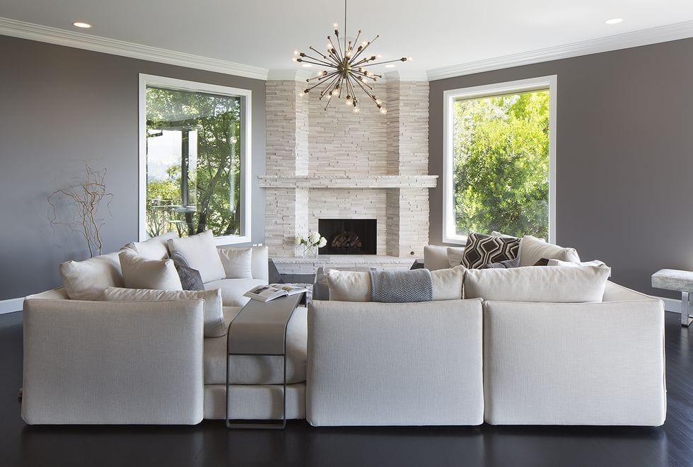 White living room sofa ideas