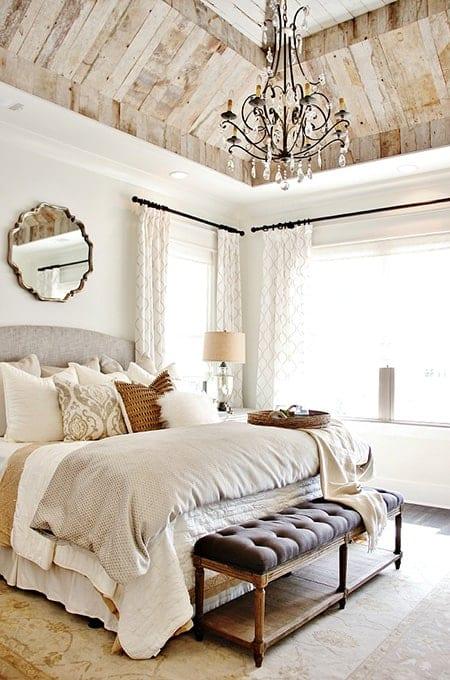 Wood Ceiling Rustic bedroom