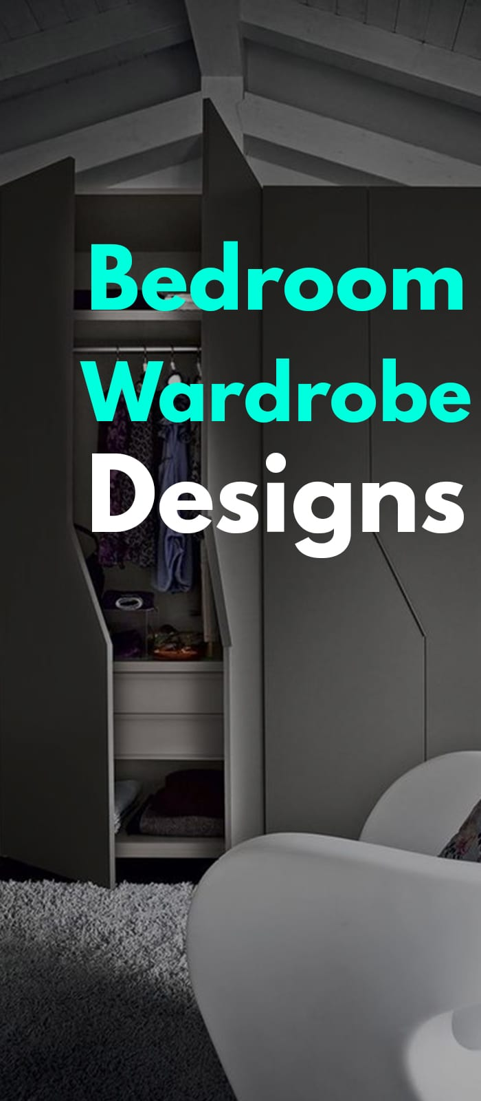Dark Themed Wardrobe Design Ideas.