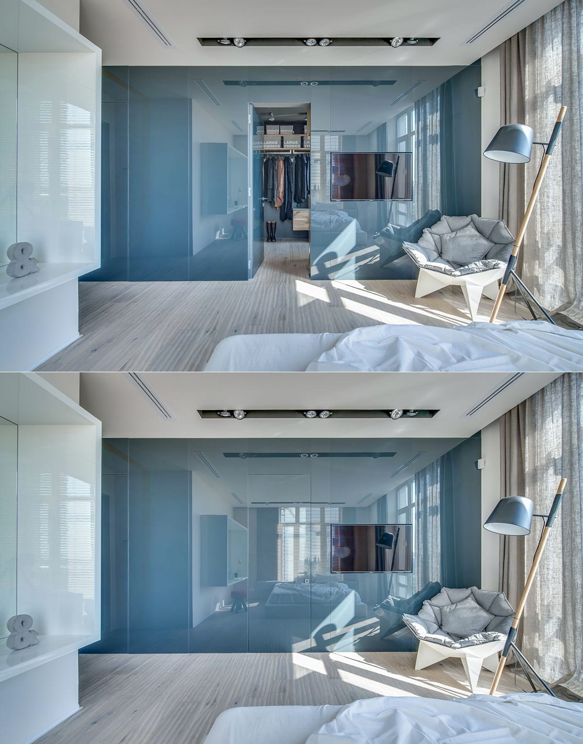 Gorgeous Blue Bedroom Wardrobe Design Ideas