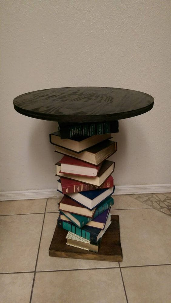 Reuse Old Books and turn into a table
