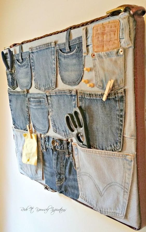 Reuse Old Jeans to put your stuff