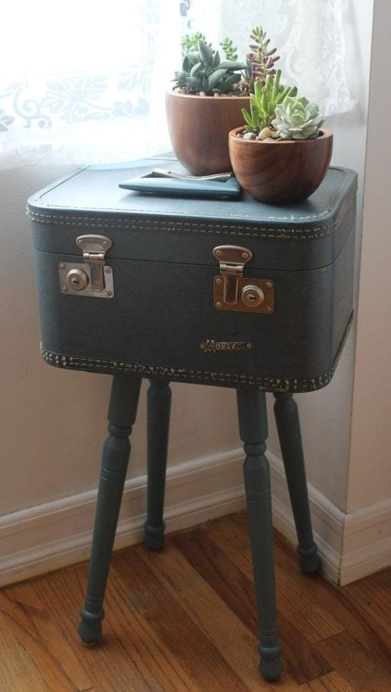 Upcycling Ideas for old Suitcases