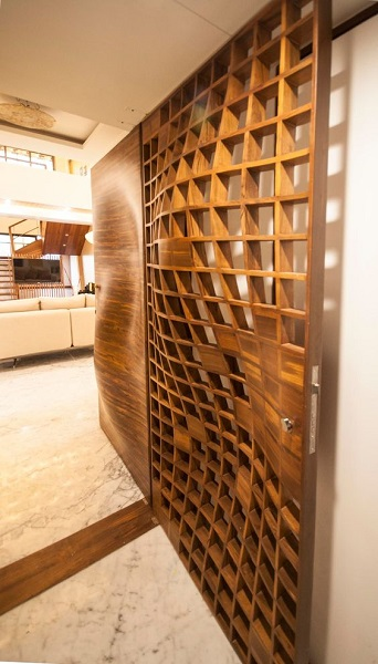 11. Organic Modern day door design which will make people crazy visiting your home