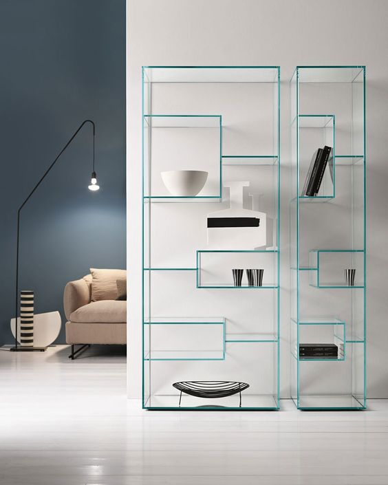 5. Easy clean fix glass shelves for books and artifacts one should have a look at