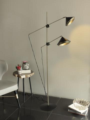 20. A modern Floor Lamp, the Alwin boasts a slim silhouette in matt black finish