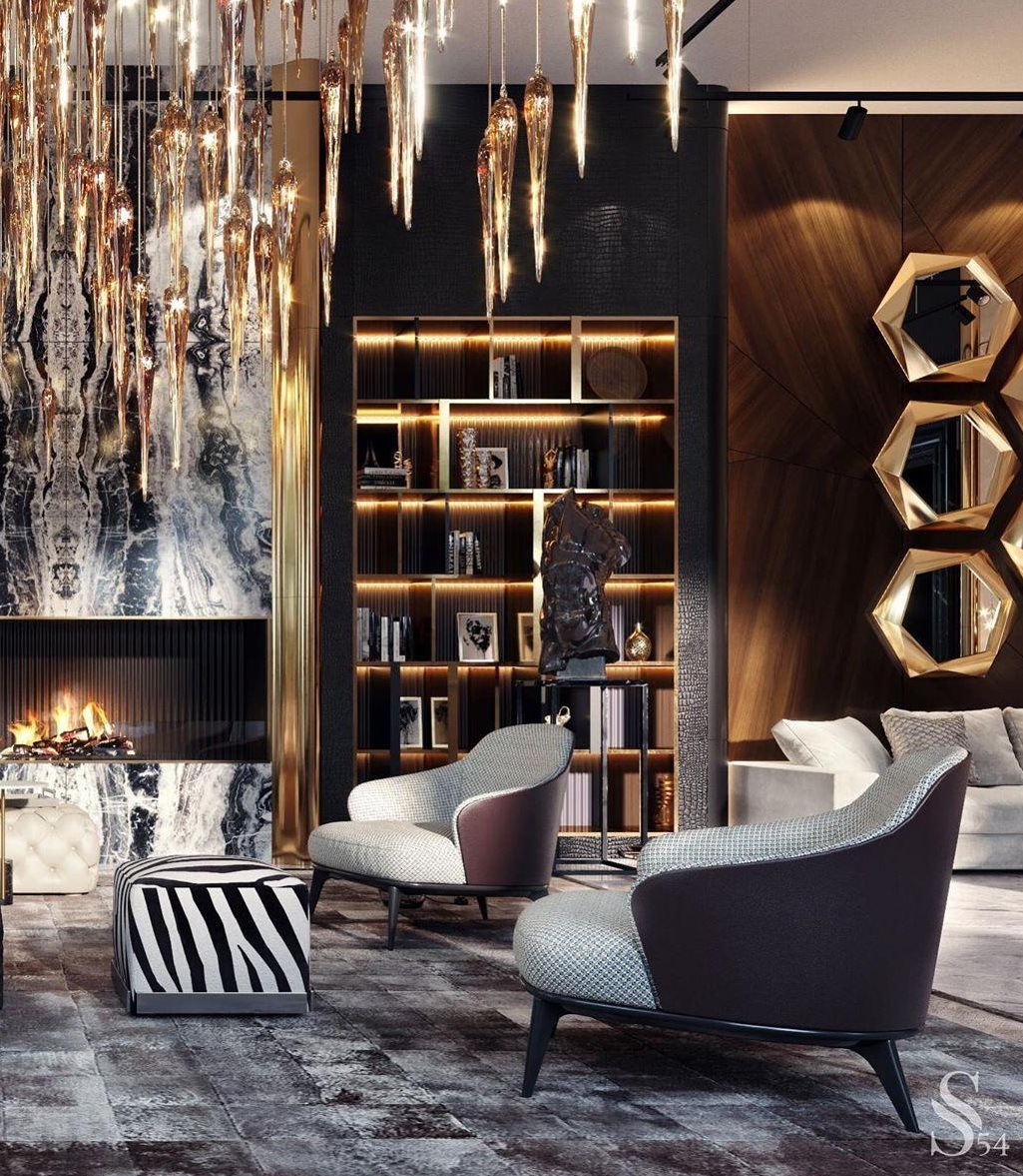 Maximalist and Luxurious Interior Design For Living Room